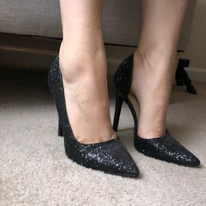Sequined high heels